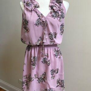 White House Black Market Dresses - WHBM Sleeveless Lavender Floral Print Dress